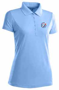 Toronto Blue Jays Womens Pique Xtra Lite Polo Shirt (Cooperstown) (Team Color: Aqua) - Medium