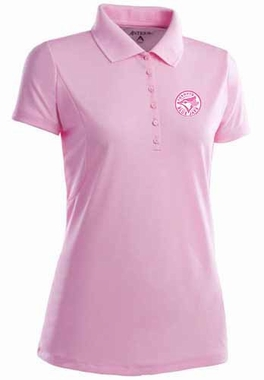 Toronto Blue Jays Womens Pique Xtra Lite Polo Shirt (Color: Pink)