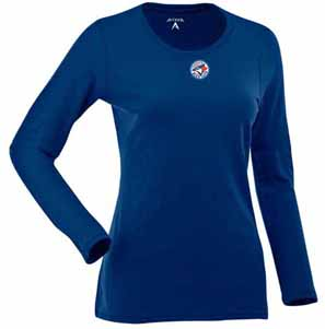 Toronto Blue Jays Womens Relax Long Sleeve Tee (Team Color: Royal) - Large