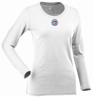 Toronto Blue Jays Womens Relax Long Sleeve Tee (Color: White)