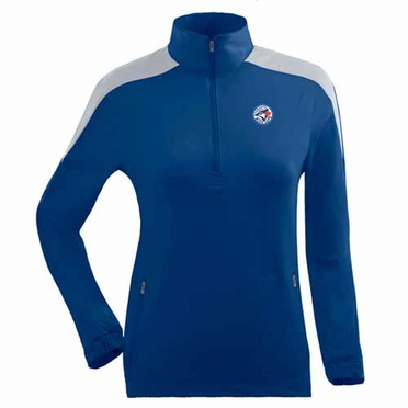 Toronto Blue Jays Womens Succeed 1/4 Zip Performance Pullover (Team Color: Royal)
