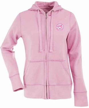 Toronto Blue Jays Womens Zip Front Hoody Sweatshirt (Color: Pink)