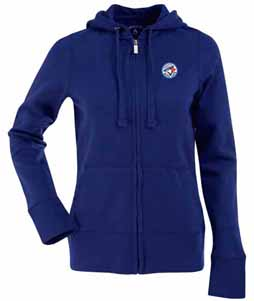 Toronto Blue Jays Womens Zip Front Hoody Sweatshirt (Team Color: Royal) - Large