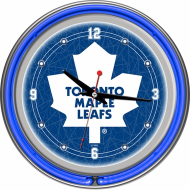 Toronto Maple Leafs 14 Inch Neon Clock