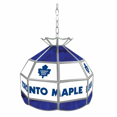 Toronto Maple Leafs 16 Inch Diameter Stained Glass Pub Light