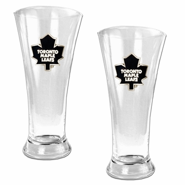 Toronto Maple Leafs 2 Piece Pilsner Glass Set