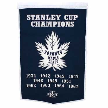 "Toronto Maple Leafs 24""x36"" Dynasty Wool Banner"