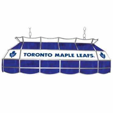 Toronto Maple Leafs 40 Inch Rectangular Stained Glass Billiard Light