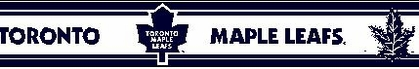 Toronto Maple Leafs 5.5 Inch (Height) Wallpaper Border
