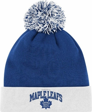 Toronto Maple Leafs Arched Logo Vintage Cuffed Pom Hat