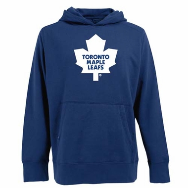 Toronto Maple Leafs Big Logo Mens Signature Hooded Sweatshirt (Team Color: Royal)