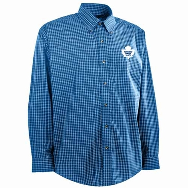 Toronto Maple Leafs Mens Esteem Button Down Dress Shirt (Team Color: Royal)
