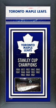 Toronto Maple Leafs Framed Championship Banner