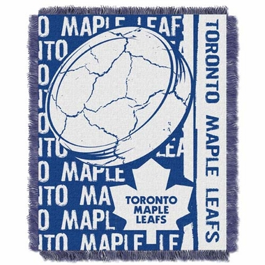 Toronto Maple Leafs Jacquard Woven Throw Blanket