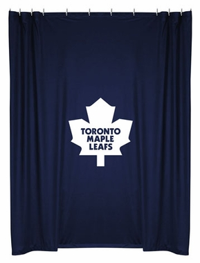 Toronto Maple Leafs Jersey Material Shower Curtain