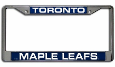 Toronto Maple Leafs Laser Etched Chrome License Plate Frame