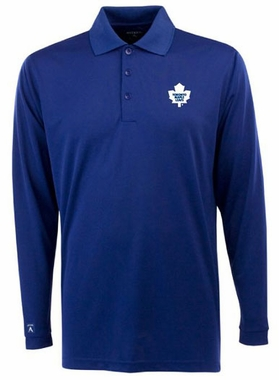 Toronto Maple Leafs Mens Long Sleeve Polo Shirt (Team Color: Royal)