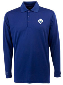 Toronto Maple Leafs Mens Long Sleeve Polo Shirt (Team Color: Royal) - Medium