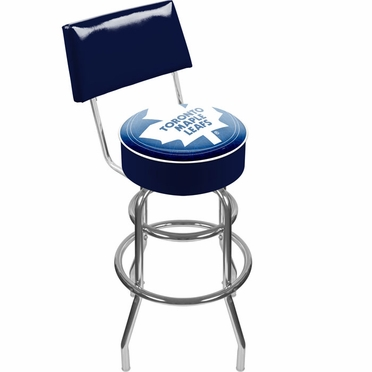 Toronto Maple Leafs Padded Bar Stool with Back