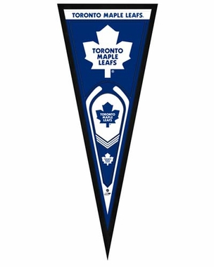 "Toronto Maple Leafs Pennant Frame - 13"" x 33"" (No Glass)"