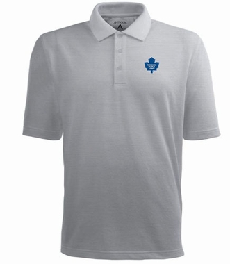 Toronto Maple Leafs Mens Pique Xtra Lite Polo Shirt (Color: Gray)