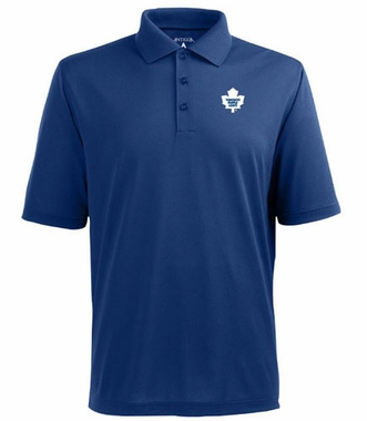 Toronto Maple Leafs Mens Pique Xtra Lite Polo Shirt (Team Color: Royal)
