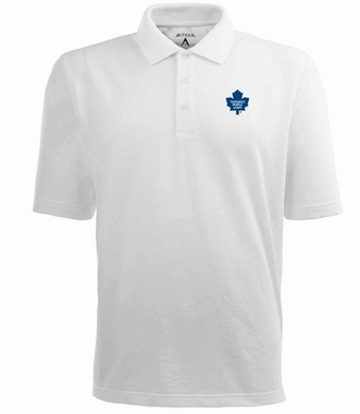 Toronto Maple Leafs Mens Pique Xtra Lite Polo Shirt (Color: White)