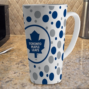 Toronto Maple Leafs Polkadot 16 oz. Ceramic Latte Mug
