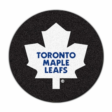 Toronto Maple Leafs 27 Inch Puck Shaped Rug