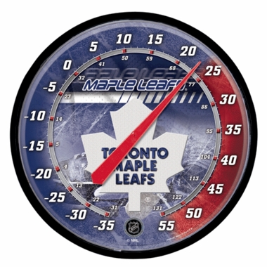 Toronto Maple Leafs Round Wall Thermometer