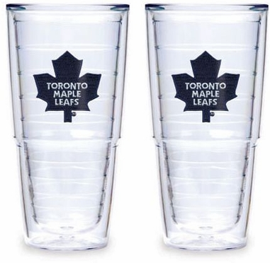 """Toronto Maple Leafs Set of TWO 24 oz. """"Big T"""" Tervis Tumblers"""
