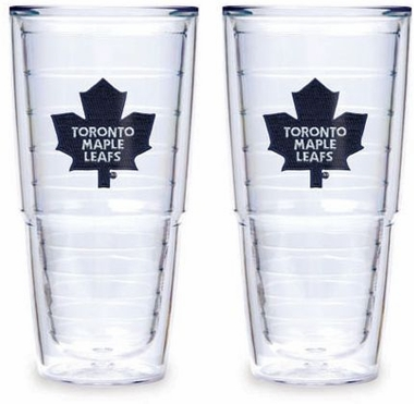 "Toronto Maple Leafs Set of TWO 24 oz. ""Big T"" Tervis Tumblers"