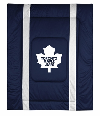 Toronto Maple Leafs SIDELINES Jersey Material Comforter