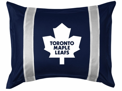 Toronto Maple Leafs SIDELINES Jersey Material Pillow Sham