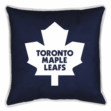 Toronto Maple Leafs SIDELINES Jersey Material Toss Pillow
