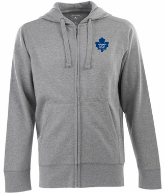 Toronto Maple Leafs Mens Signature Full Zip Hooded Sweatshirt (Color: Gray)