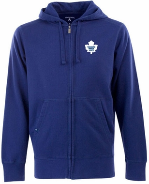 Toronto Maple Leafs Mens Signature Full Zip Hooded Sweatshirt (Team Color: Royal)