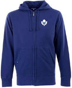Toronto Maple Leafs Mens Signature Full Zip Hooded Sweatshirt (Color: Royal) - Medium