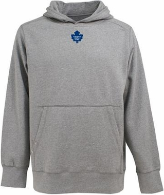 Toronto Maple Leafs Mens Signature Hooded Sweatshirt (Color: Gray)