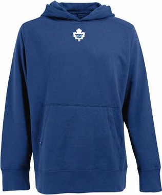 Toronto Maple Leafs Mens Signature Hooded Sweatshirt (Team Color: Royal)