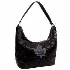 Toronto Maple Leafs Sport Noir Quilted Hobo