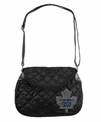 Toronto Maple Leafs Sport Noir Quilted Saddlebag