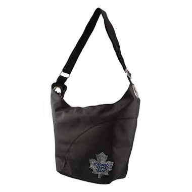 Toronto Maple Leafs Sport Noir Sheen Hobo Purse