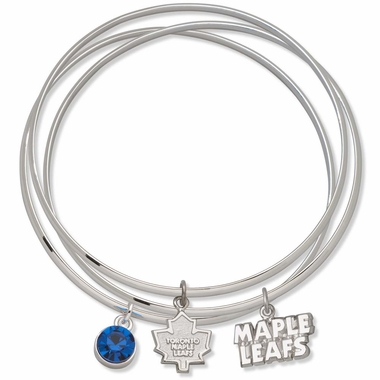 Toronto Maple Leafs Triple Bangle Bracelet