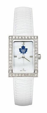 Toronto Maple Leafs Women's White Leather Strap Allure Watch