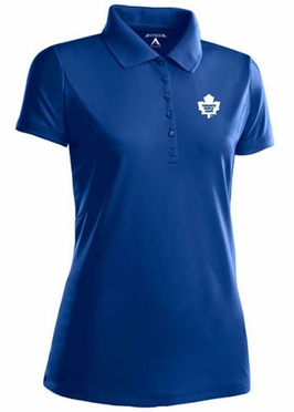 Toronto Maple Leafs Womens Pique Xtra Lite Polo Shirt (Team Color: Royal)