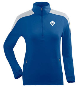 Toronto Maple Leafs Womens Succeed 1/4 Zip Performance Pullover (Team Color: Royal) - Large
