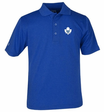Toronto Maple Leafs YOUTH Unisex Pique Polo Shirt (Team Color: Royal)