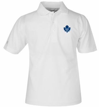 Toronto Maple Leafs YOUTH Unisex Pique Polo Shirt (Color: White)