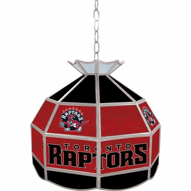 Toronto Raptors 16 Inch Diameter Stained Glass Pub Light